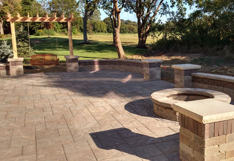 Fire pit patio wall ohio sandusky