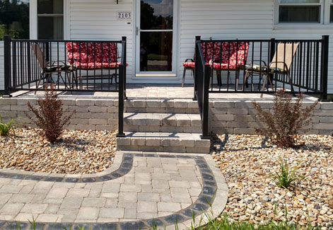 Paver Landing with Stairs Ohio