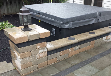 Paver Patio with Walls and Hot tub Ohio